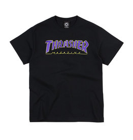 THRASHER THRASHER PURPLE / GOLD OUTLINED T-SHIRT BLACK