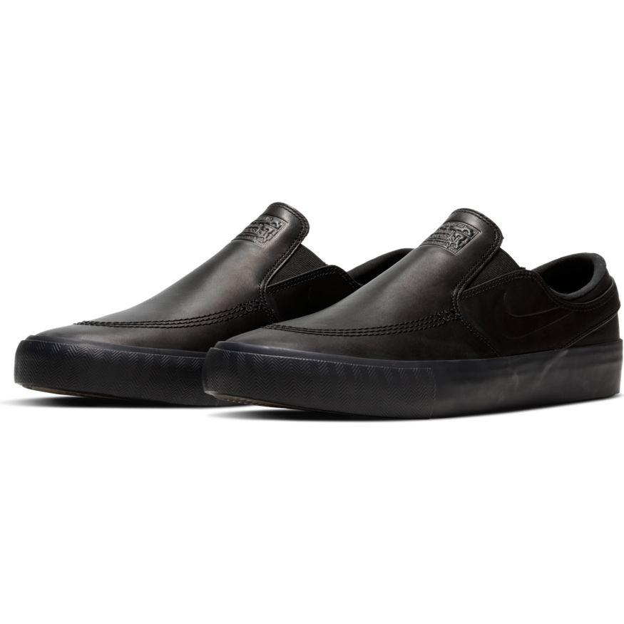 NIKE SB ORANGE LABEL JANOSKI SLIP BLACK / BLACK