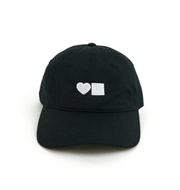 BLUETILE BLUETILE LOVE SIX PANEL HAT BLACK