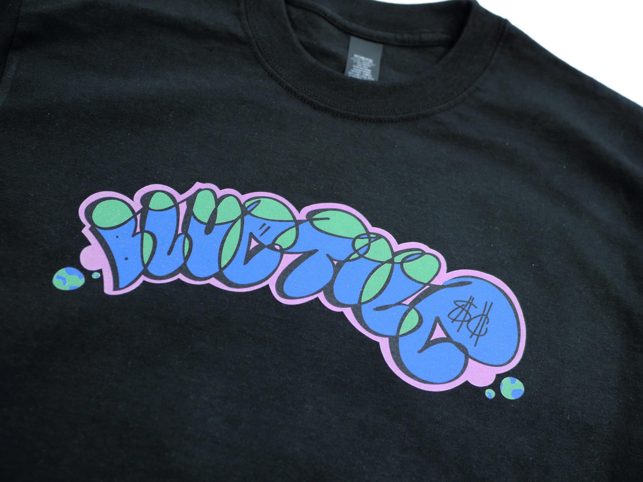 BLUETILE BLUETILE GRAFFITI T-SHIRT BLACK