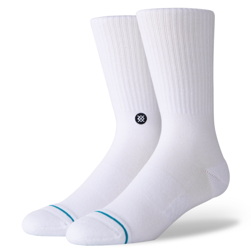 STANCE STANCE SOCKS ICON 3 PACK WHITE LARGE