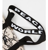 "VANS VANS CHERUB TOTE BAG ""WORLD PEACE"" NATURAL"