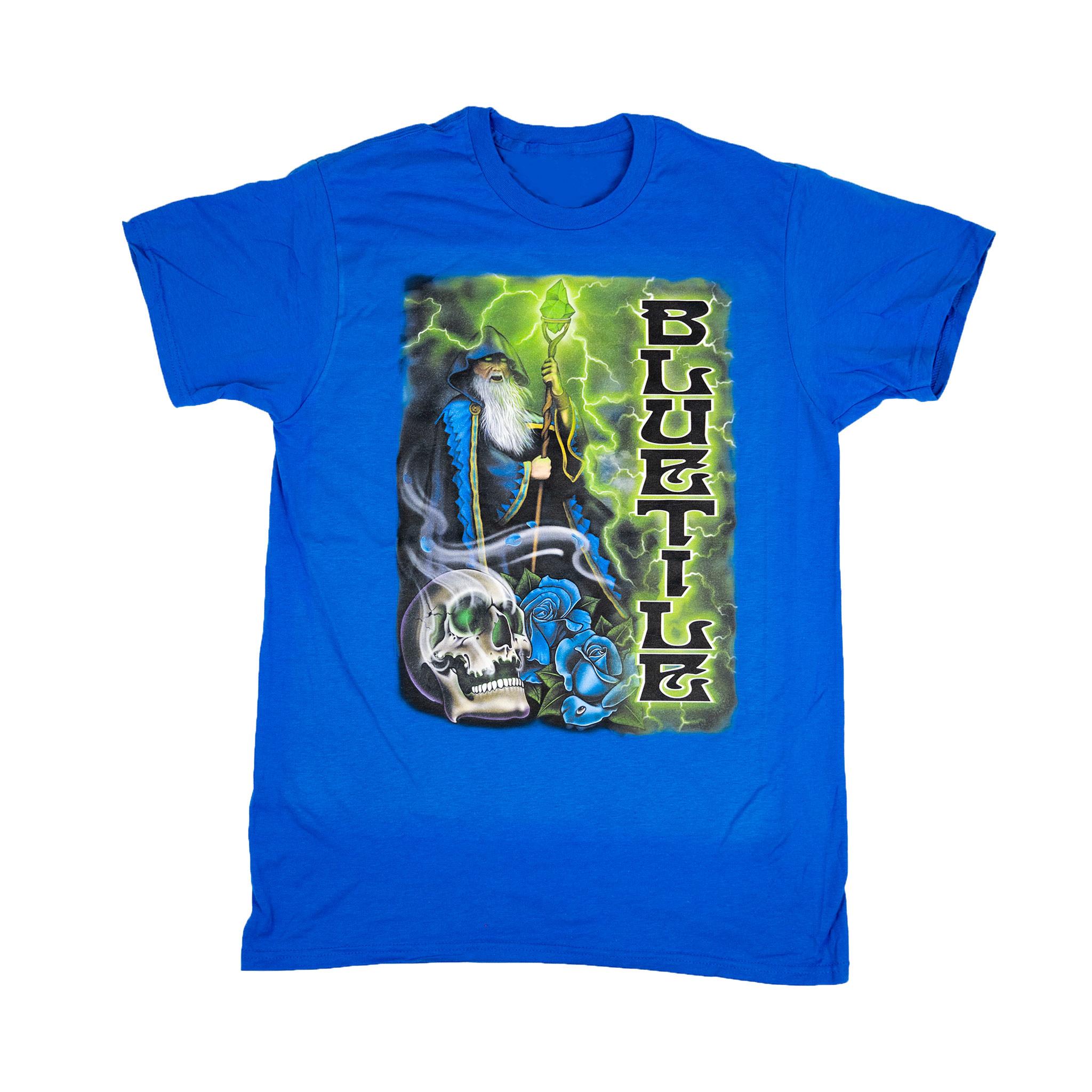 BLUETILE BLUETILE TRIPPY WIZARD T-SHIRT BLUE