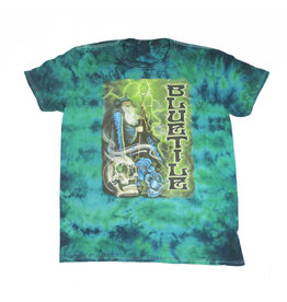 BLUETILE BLUETILE TRIPPY WIZARD T-SHIRT GREEN BURST