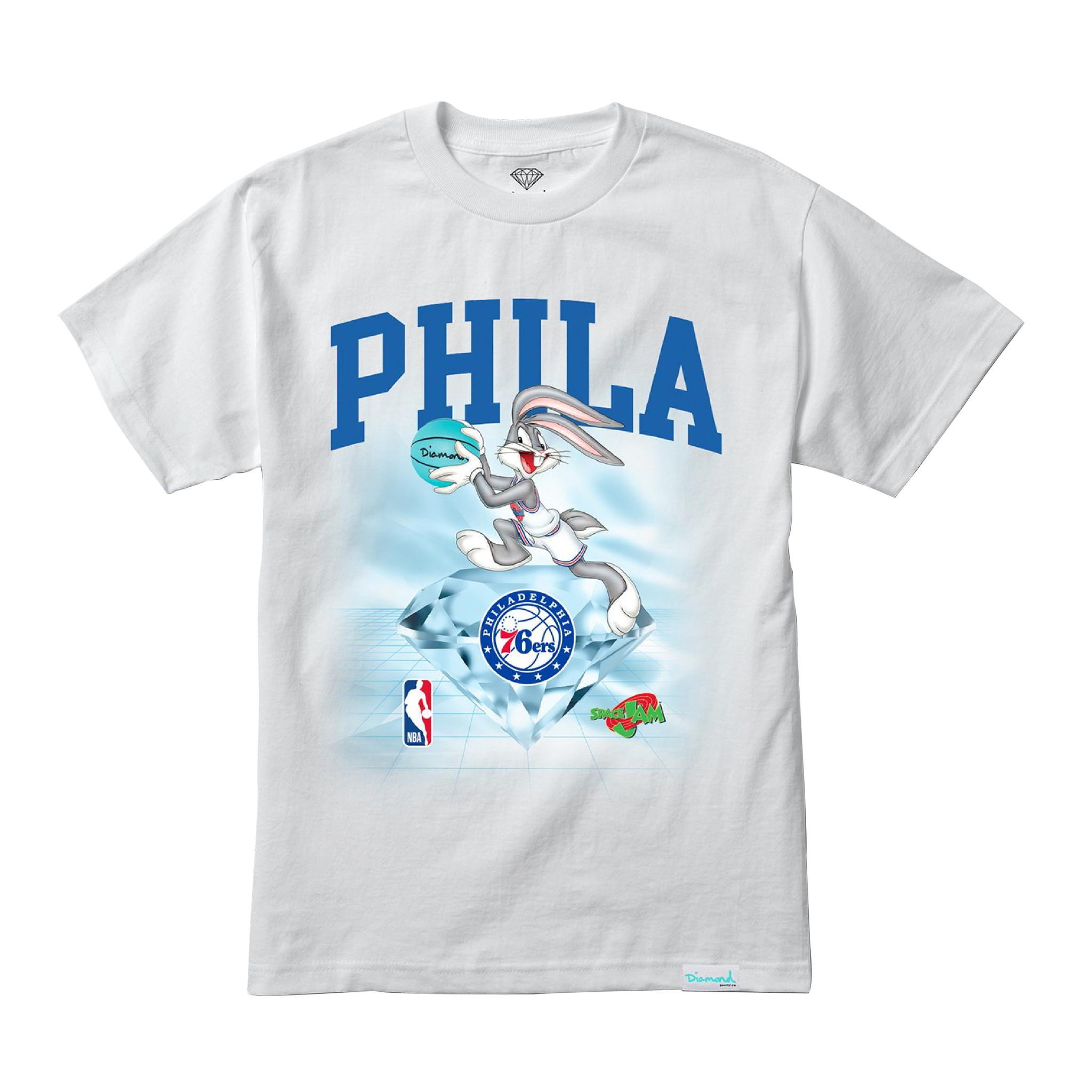 DIAMOND x SPACE JAM x NBA 76ERS T-SHIRT