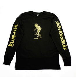 BLUETILE BLUETILE x GONZ SKETCHY LONG SLEEVE BLACK