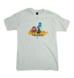 BLUETILE BLUETILE CAMP FIRE T-SHIRT WHITE