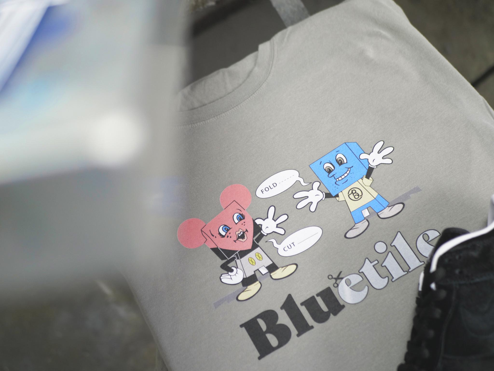 BLUETILE BLUETILE PAPER TOYS T-SHIRT GREY