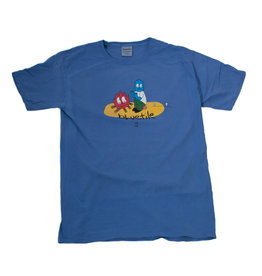 BLUETILE BLUETILE CAMP FIRE T-SHIRT FORTE BLUE