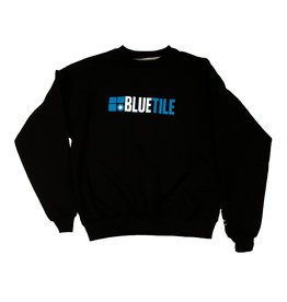BLUETILE BLUETILE THROWBACK 2010 LOGO CREWNECK BLACK