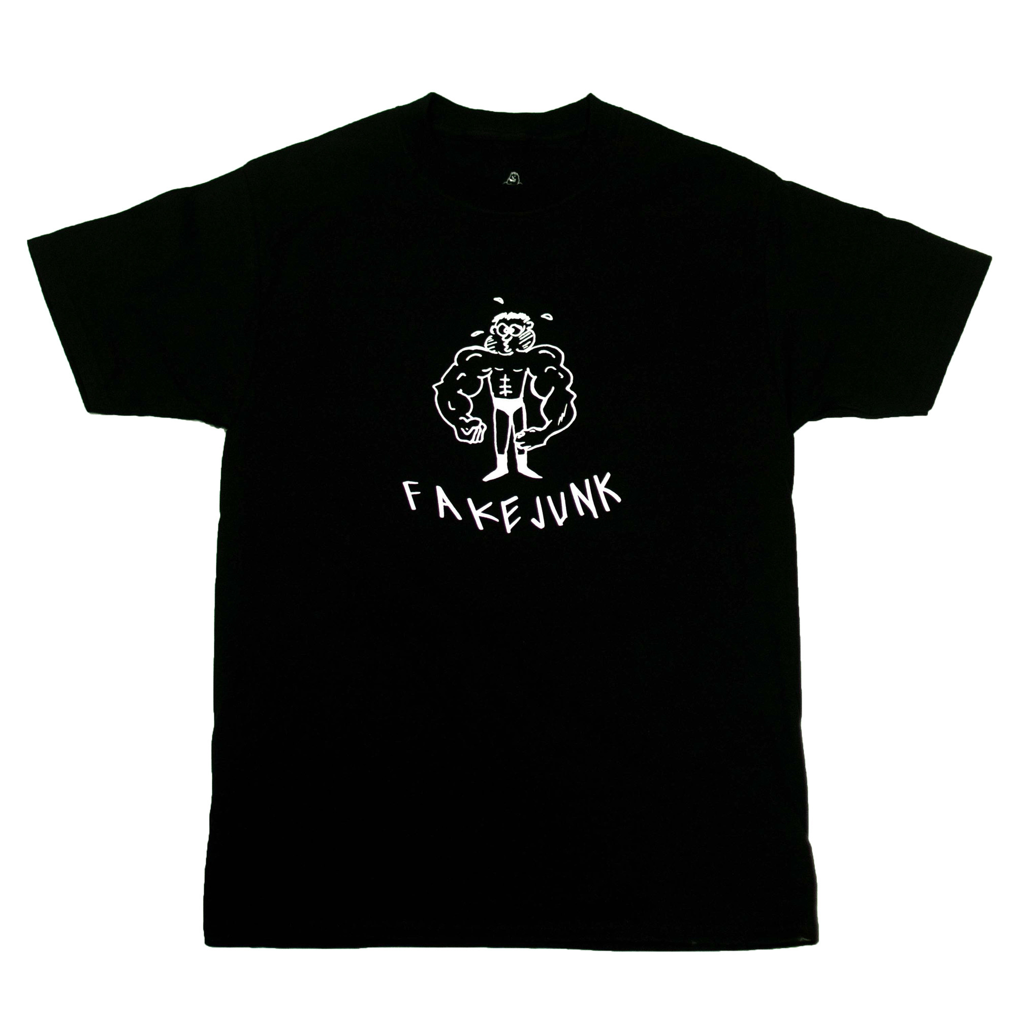 FAKE JUNK FAKE JUNK BUFF DUDE T-SHIRT BLACK