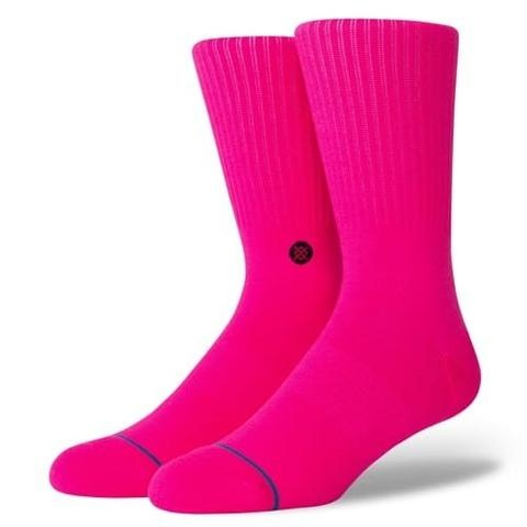 STANCE STANCE SOCKS ICON NEON PINK LARGE