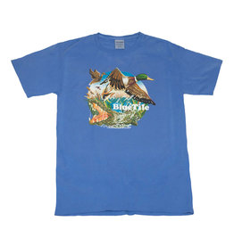 BLUETILE BLUETILE WILDERNESS DUCKS T-SHIRT FORTE BLUE