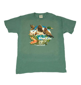 BLUETILE BLUETILE WILDERNESS DUCKS T-SHIRT CYPRESS GREEN