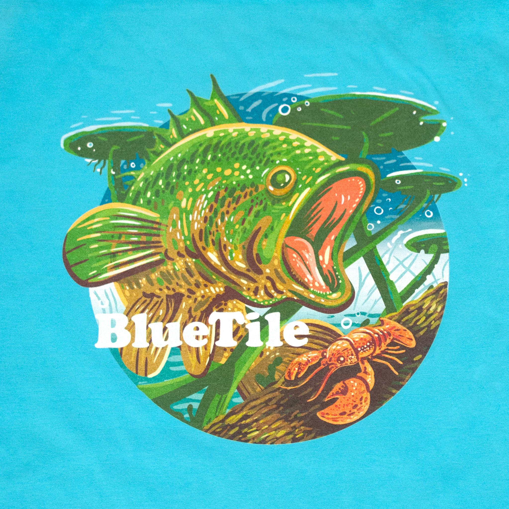 BLUETILE BLUETILE WILDERNESS BASS T-SHIRT FRESHWATER BLUE