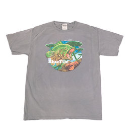 BLUETILE BLUETILE WILDERNESS BASS T-SHIRT CONCRETE