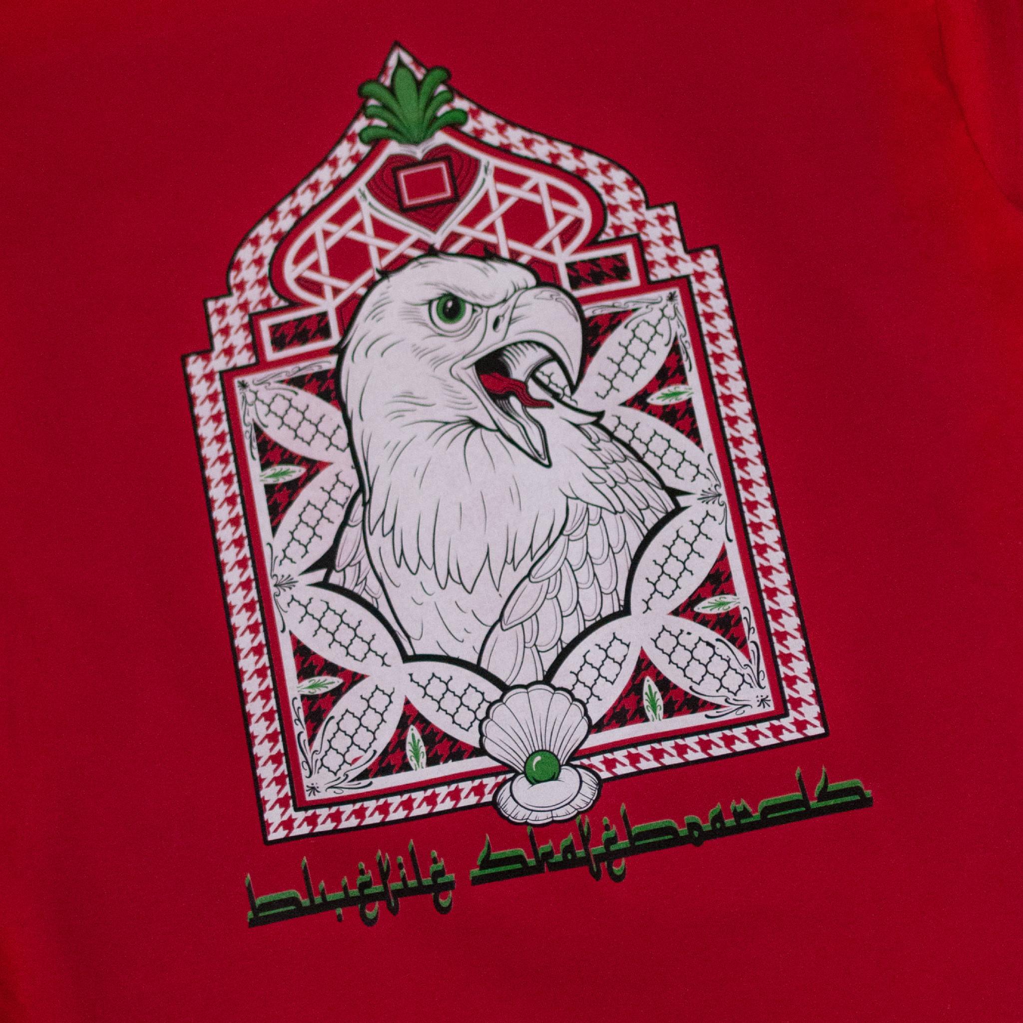 BLUETILE BLUETILE BIRD OF PREY T-SHIRT RED