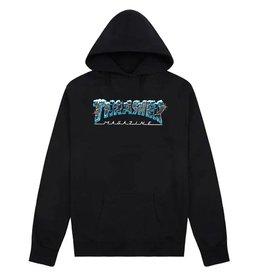 THRASHER THRASHER BLACK ICE HOODIE BLACK