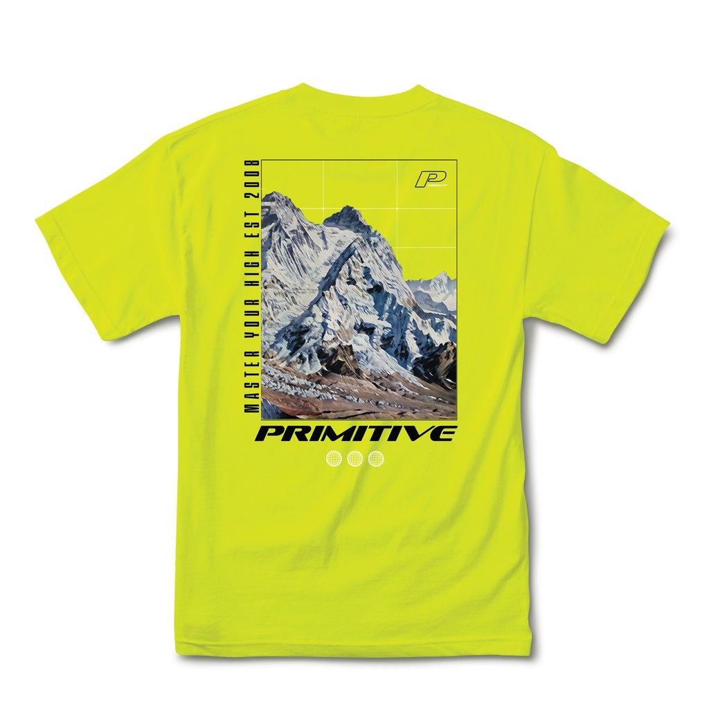 PRIMITIVE PRIMITIVE SUMMIT T-SHIRT SAFETY GREEN