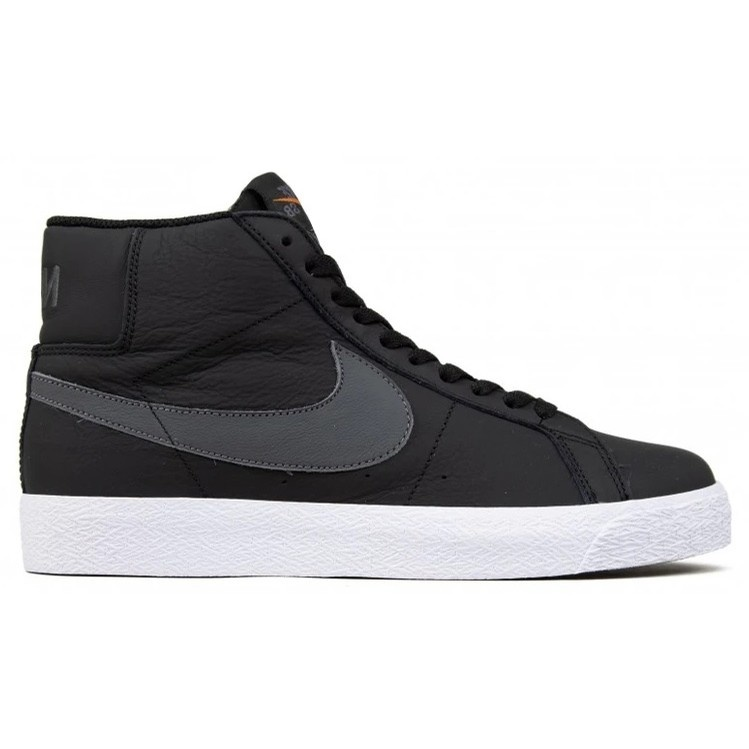 NIKE SB BLAZER MID ISO ORANGE LABEL BLACK/DARK GREY
