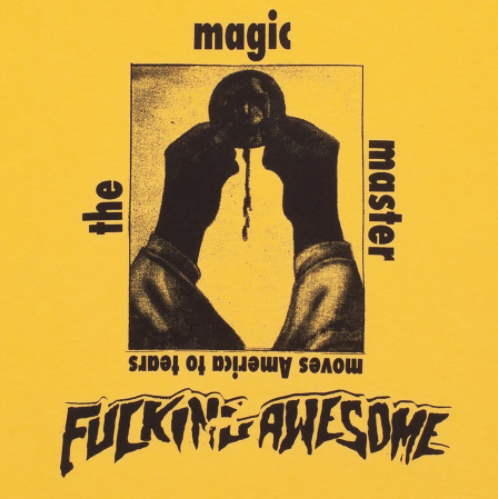FUCKING AWESOME FUCKING AWESOME THE MAGIC MASTER T-SHIRT YELLOW