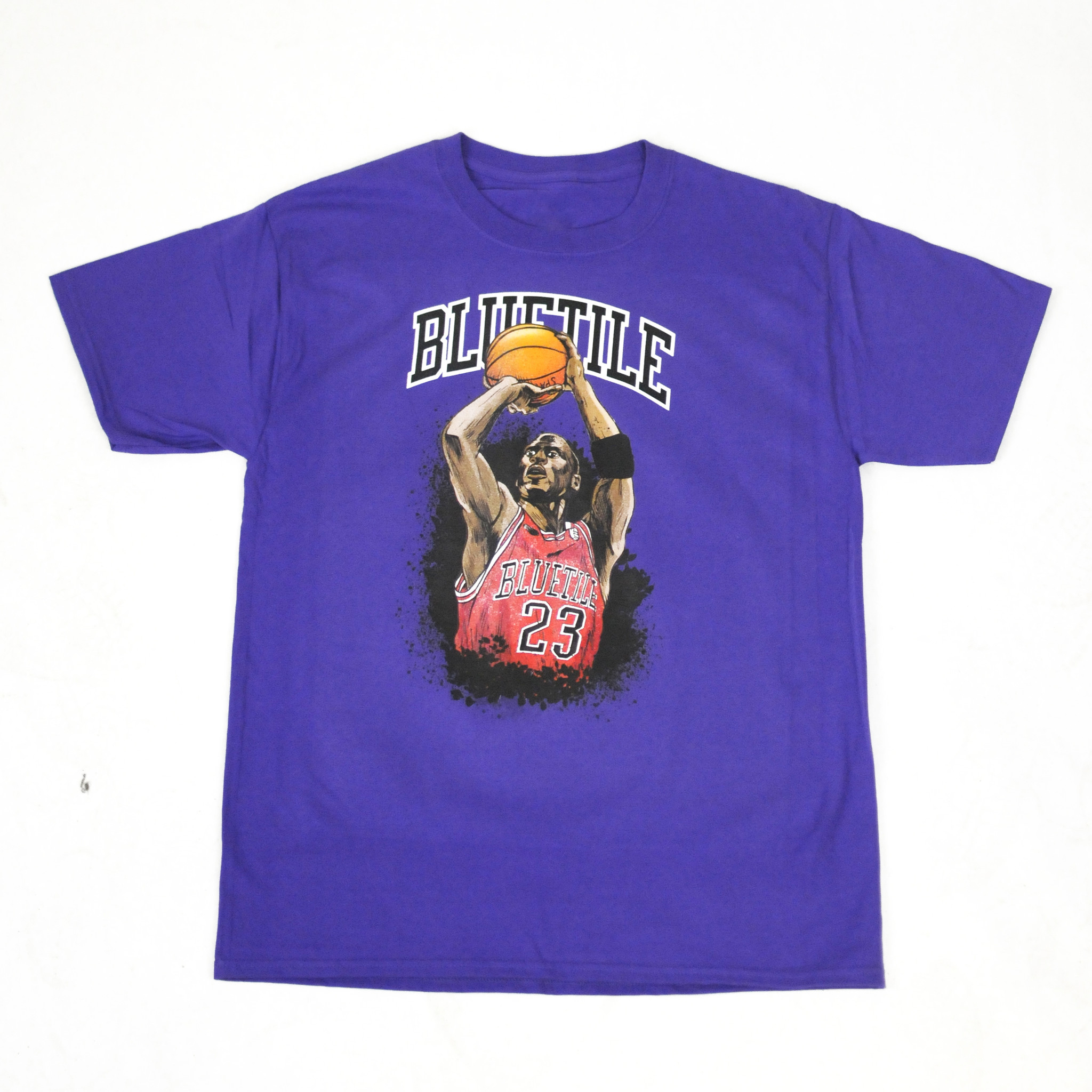 BLUETILE BLUETILE JUMP SHOT T-SHIRT PURPLE