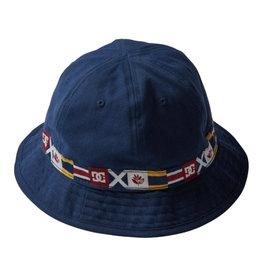 DC DC X MAGENTA BUCKET HAT NAVY