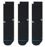STANCE STANCE SOCKS ICON 3 PACK BLACK MED