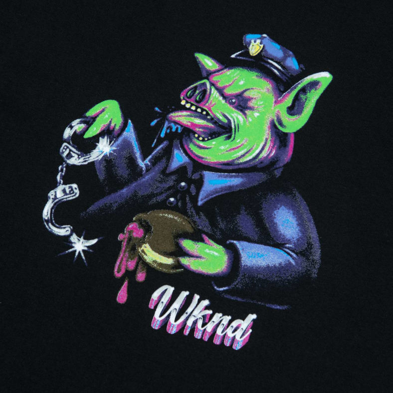 WKND WKND OVERSEER T-SHIRT BLACK