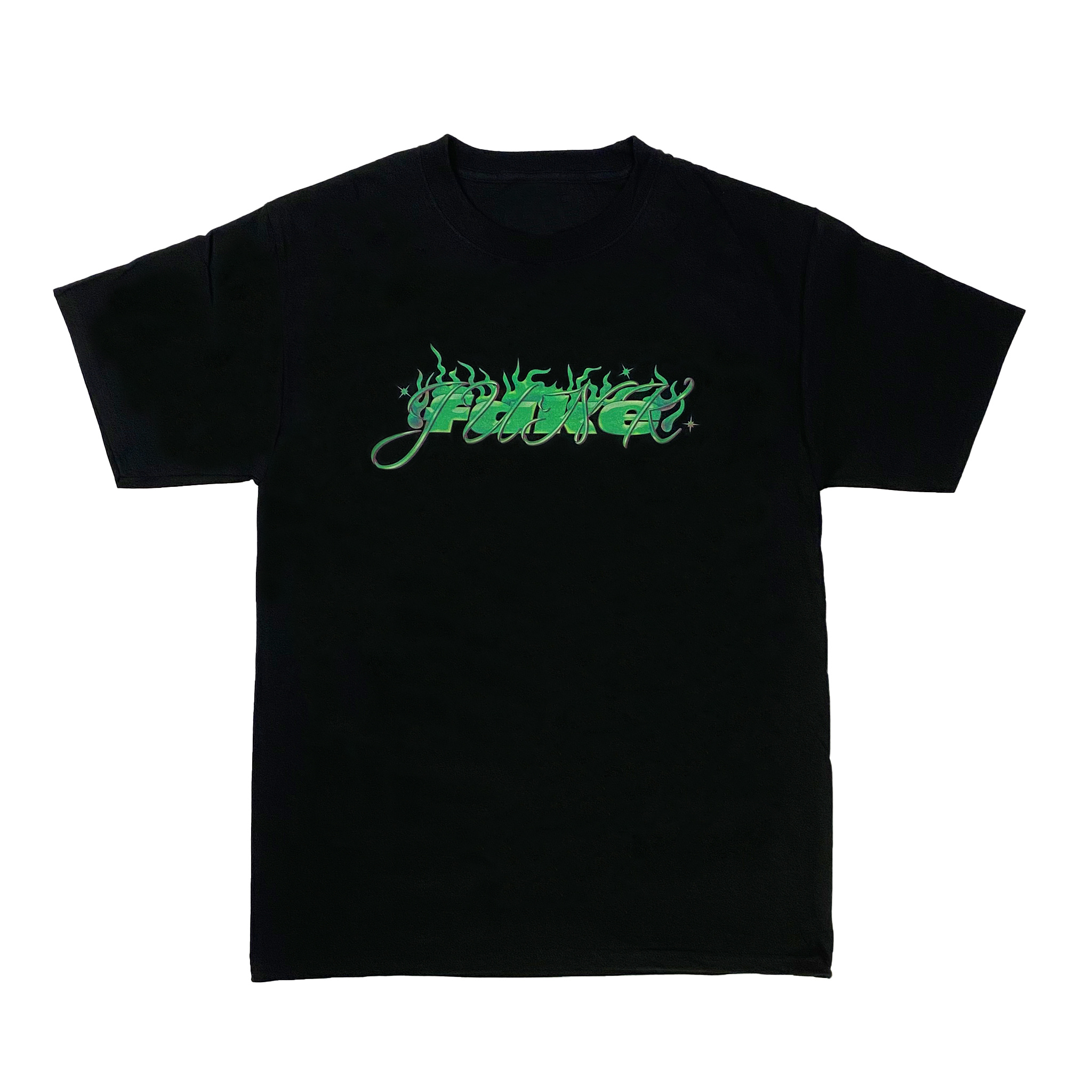 FAKE JUNK FAKE JUNK STRAIGHT FIRE T-SHIRT BLACK
