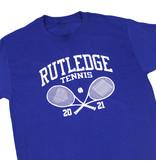 BLUETILE BLUETILE RUTLEDGE TENNIS CLUB T-SHIRT ROYAL