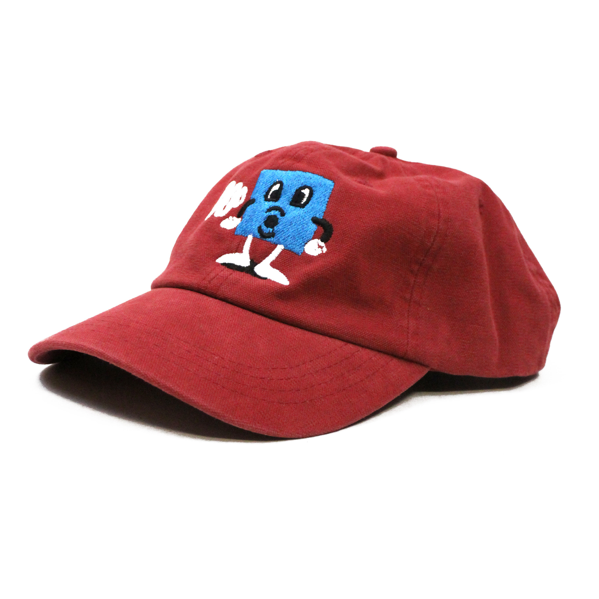 BLUETILE BLUETILE PUFF SQUARE DAD HAT ANTIQUE RED