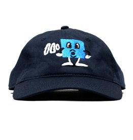 BLUETILE BLUETILE PUFF SQUARE DAD HAT NAVY BLUE