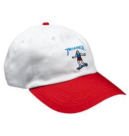 THRASHER THRASHER GONZ OLD TIMER HAT WHITE/RED