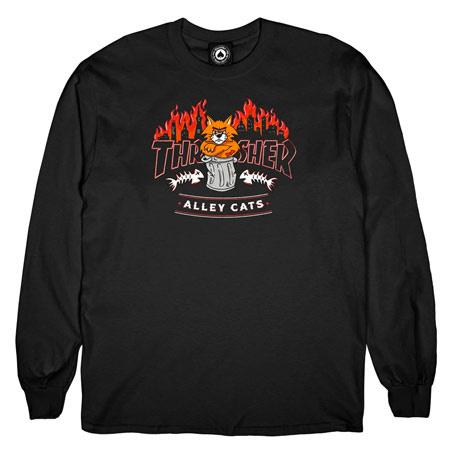 THRASHER THRASHER ALLEY CATS LONG SLEEVE BLACK