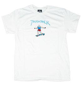 THRASHER THRASHER GONZ LOGO T-SHIRT WHITE / BLUE