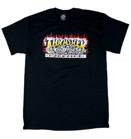THRASHER THRASHER KRAK SKULLS T-SHIRT BLACK