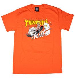 THRASHER THRASHER 40 YEARS NECKFACE T-SHIRT ORANGE
