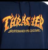 THRASHER THRASHER FIRE LOGO HOODIE NAVY
