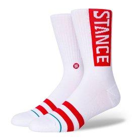 STANCE STANCE SOCKS OG WHITE/RED LARGE