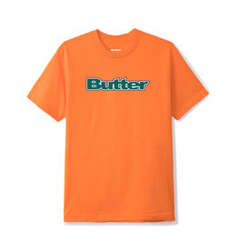 Butter Goods BUTTER GOODS WORDMARK T-SHIRT ORANGE