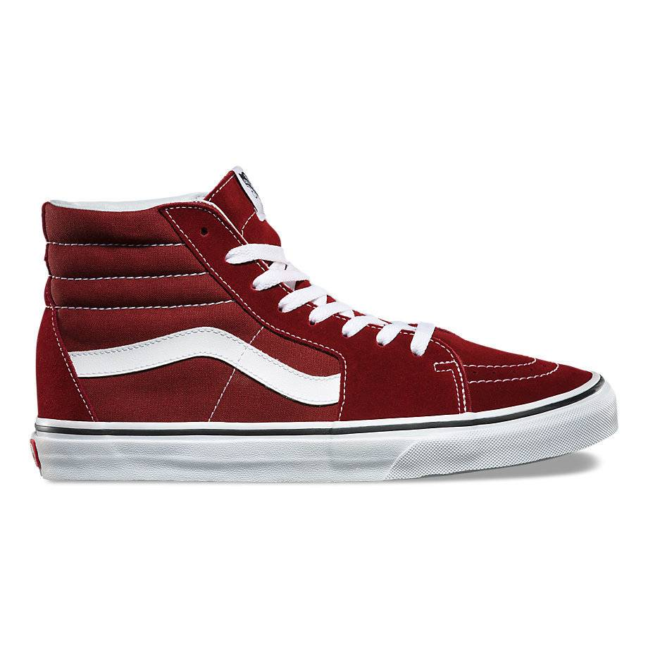 469187fcb2868 VANS VANS SK8-HI MADDER BROWN   TRUE WHITE - Bluetile Skateboards