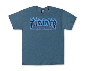 e89ce396a58c THRASHER THRASHER FLAME LOGO T-SHIRT PURPLE / DARK HEATHER - Bluetile  Skateboards