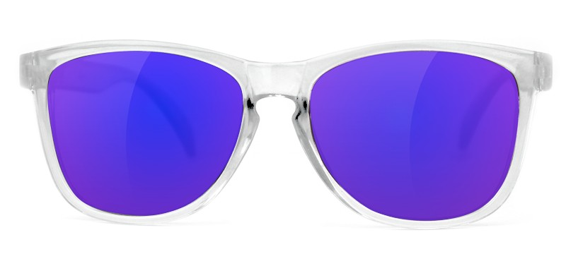 GLASSY GLASSY SUNHATERS DERIC CLEAR / BLUE MIRROR