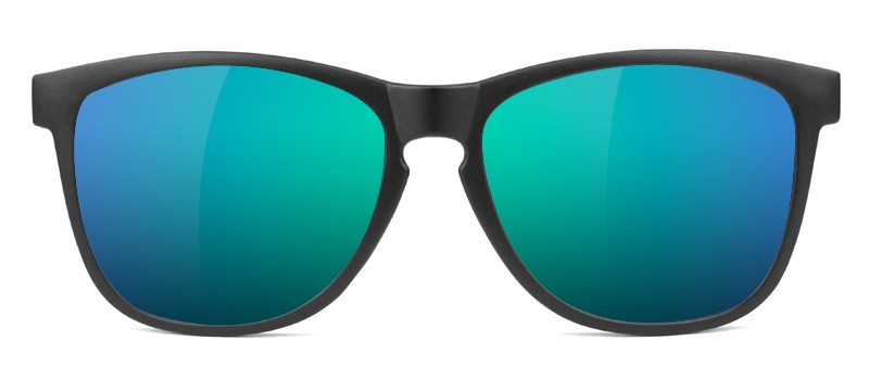 GLASSY GLASSY SUNHATERS DERIC MATTE BLACK / GREEN MIRROR