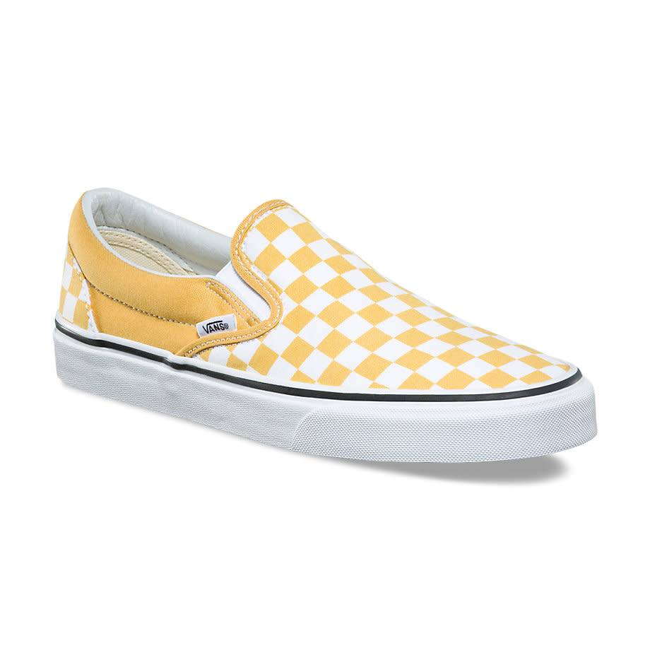 vans yellow slip on