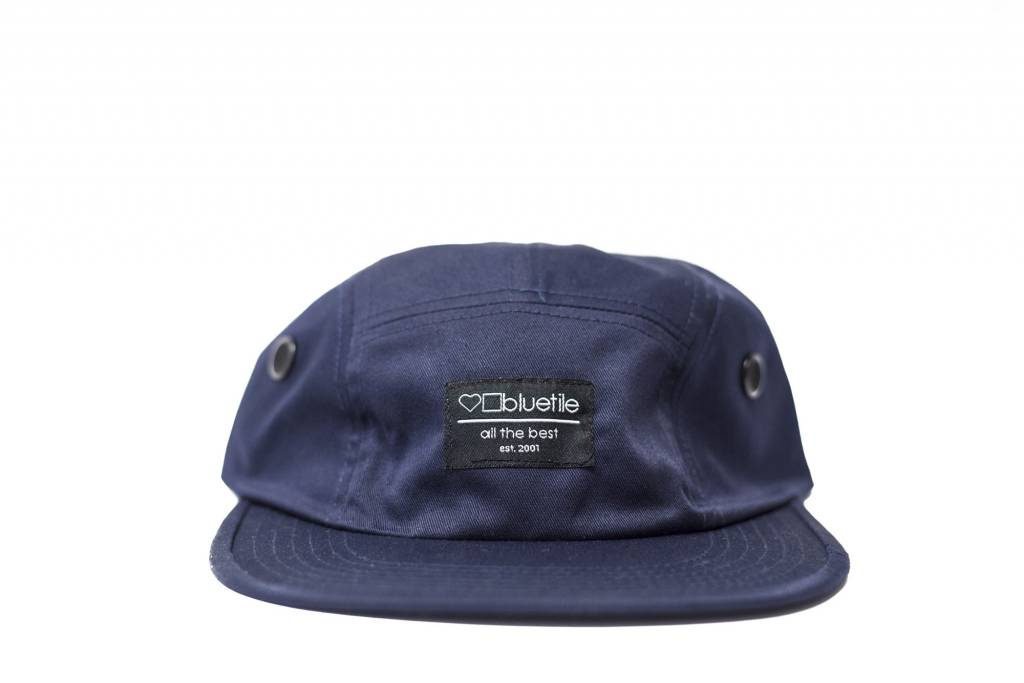 62fba25fb54 BLUETILE SURPLUS 5 PANEL HAT NAVY - Bluetile Skateboards