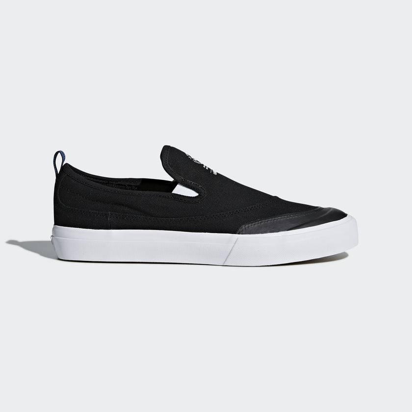 wholesale dealer 9e3e1 a415a ADIDAS SKATEBOARDING MATCHCOURT SLIP BLACK   WHITE - Bluetile Skateboards