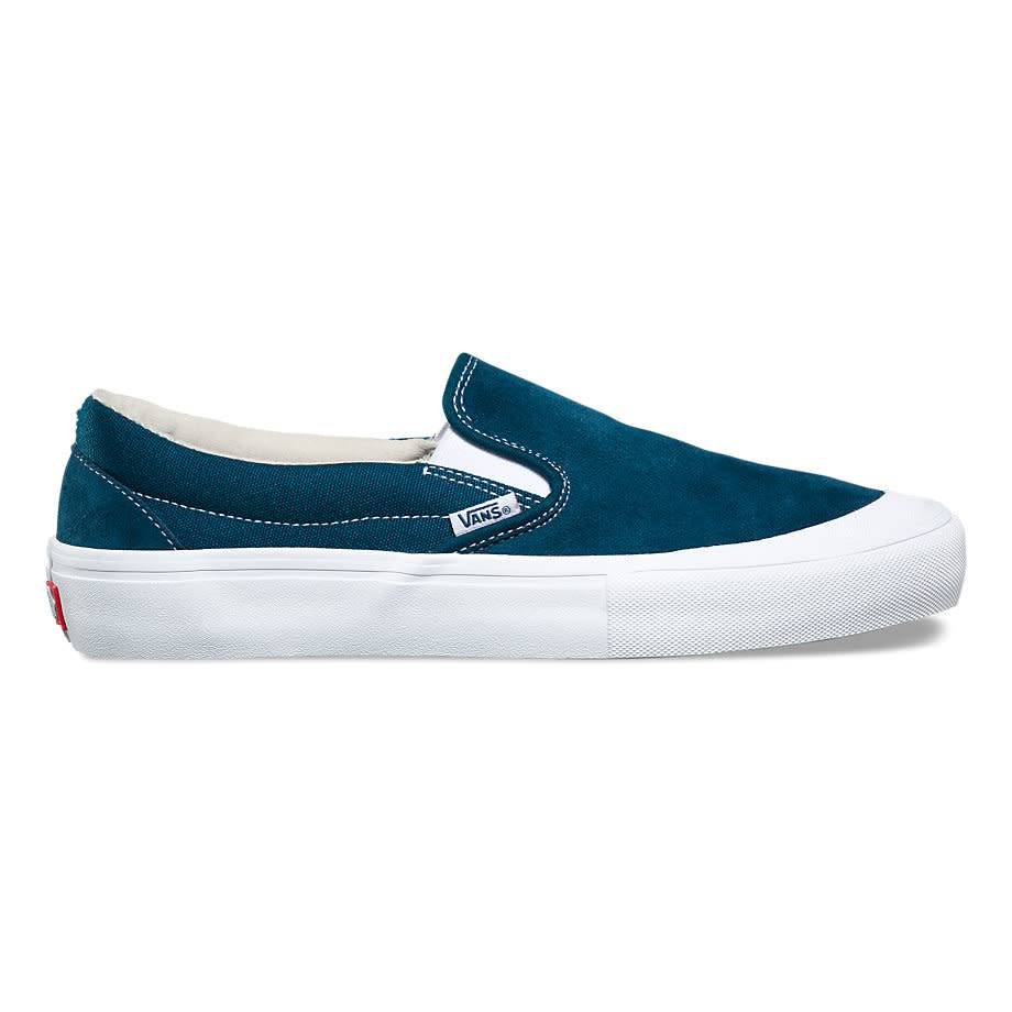VANS SLIP ON PRO (TOE CAP) REFLECTING POND   WHITE - Bluetile ... 9084d0343