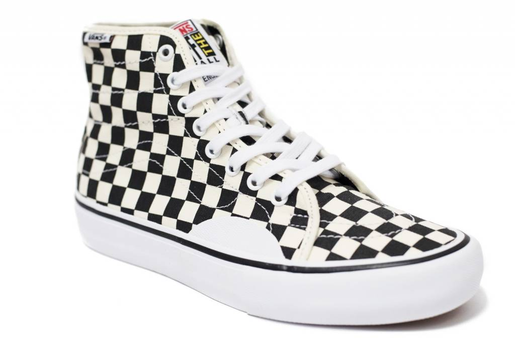 VANS AV CLASSIC HIGH PRO CHECKERBOARD WHITE   BLACK - Bluetile Skateboards 3be0e8085